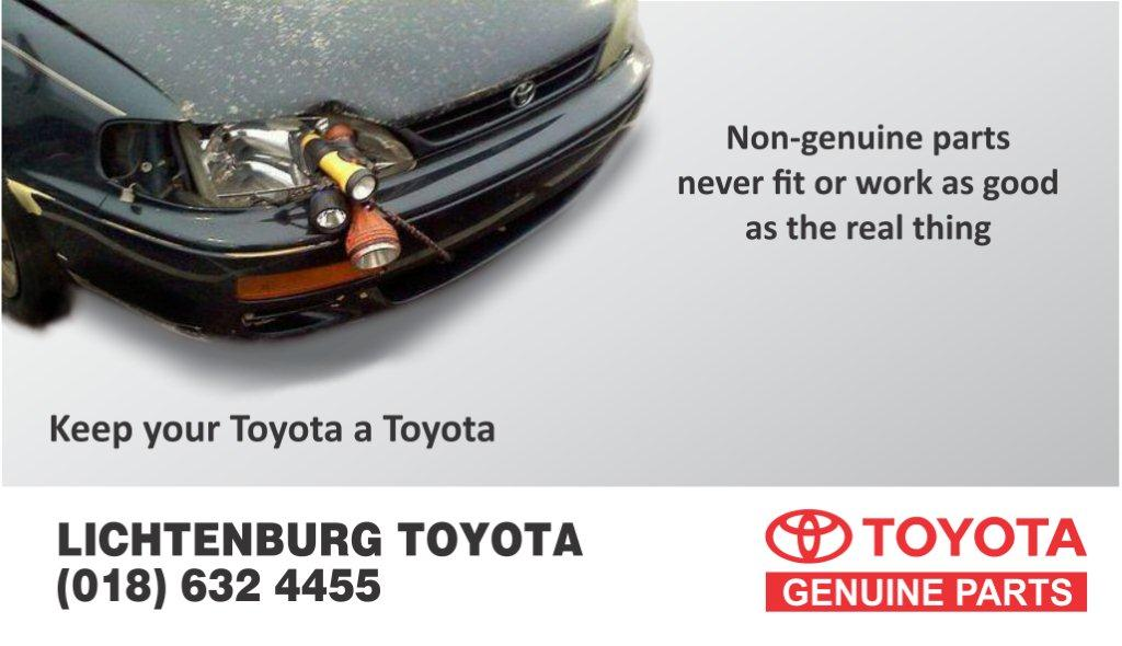 Lichtenburg Toyota  - Parts Sales